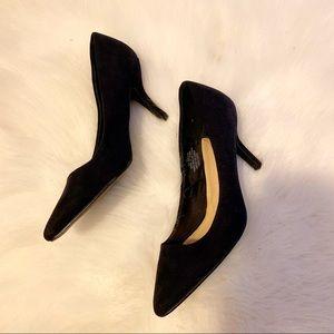 """🌸H&M 3"""" Velvet Finish Black Pointy Toe Heels"""
